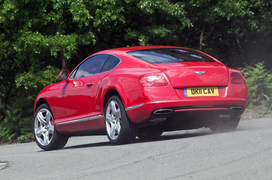 Bentley Continental GT rear cornering