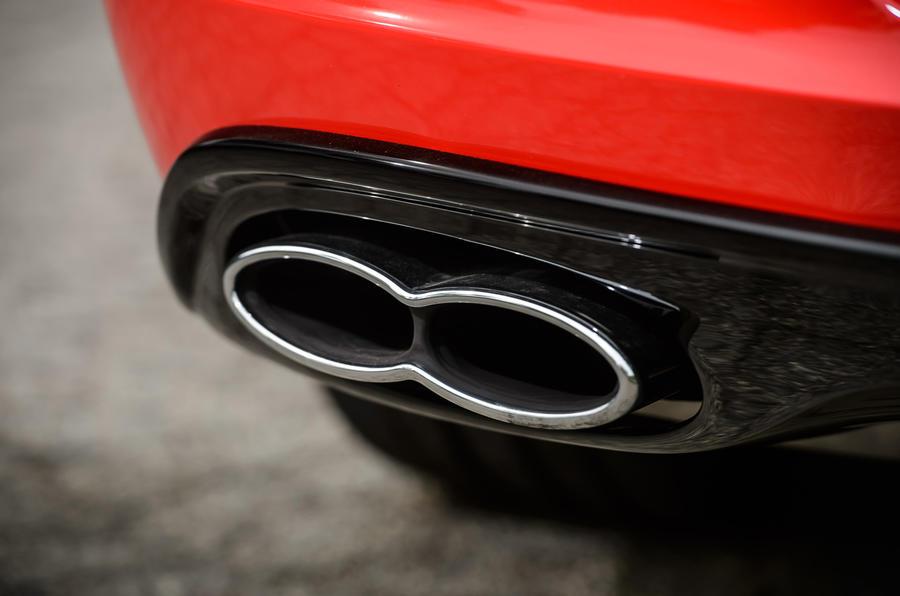 Bentley Continental GT V8 S quad exhaust