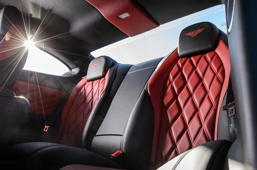 Bentley Continental GT V8 S rear seats