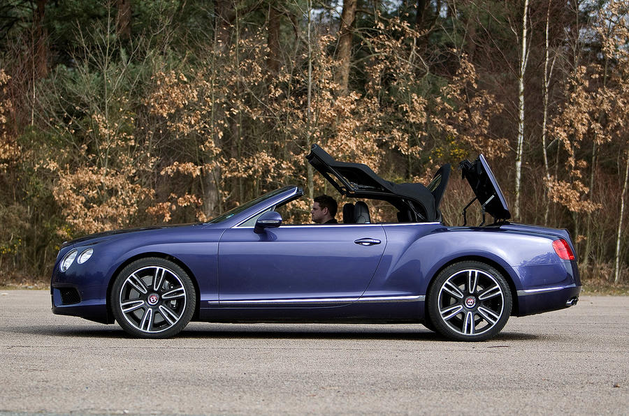 Open-top Bentley Continental GTC