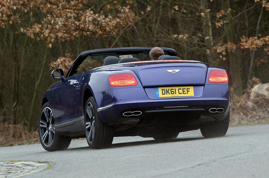 Bentley Continental GTC rear cornering
