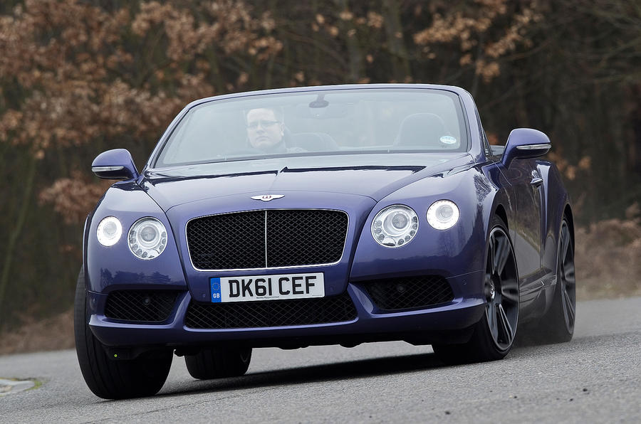 Bentley Continental GTC cornering