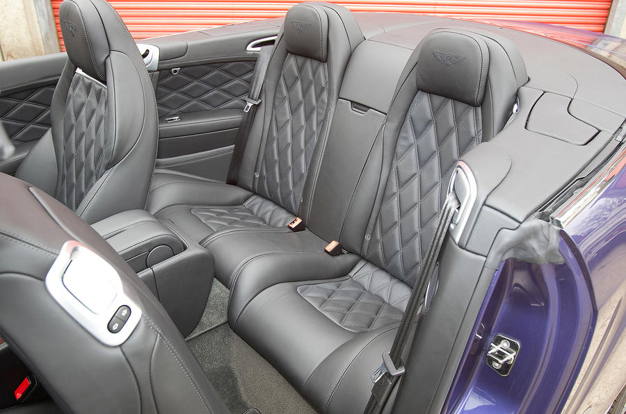 Bentley Continental GTC rear seats