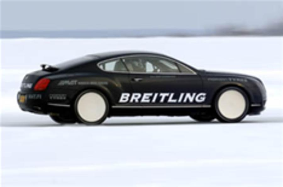 Bentley smashes ice-speed record