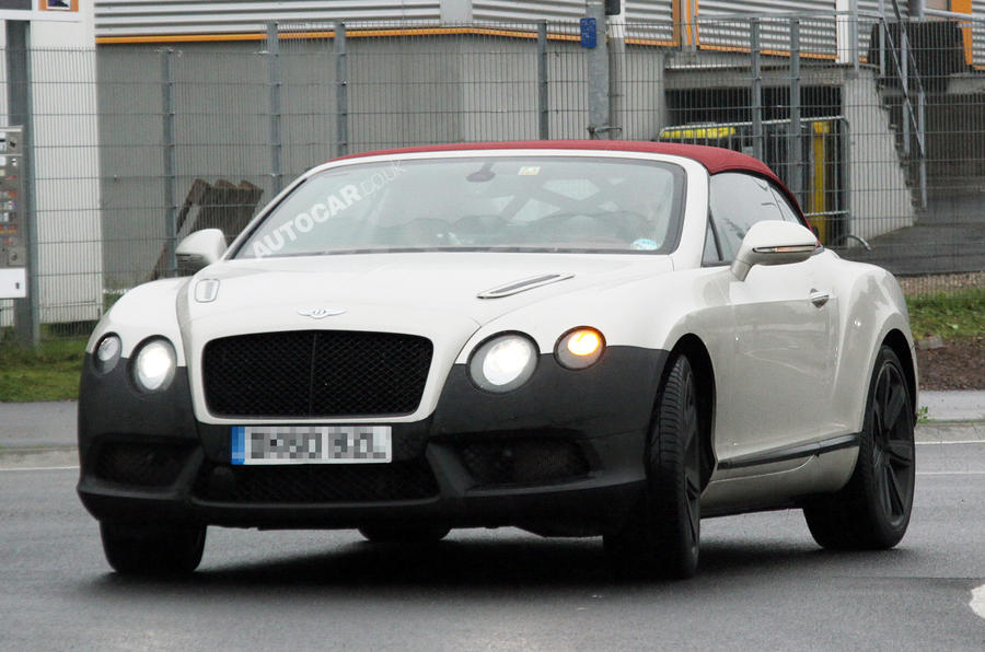 Bentley tests new turbo V8
