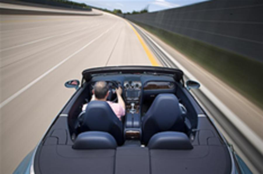 200mph, roof down in a Bentley