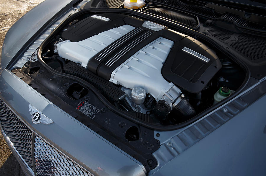 6.0-litre W12 Bentley Flying Spur engine