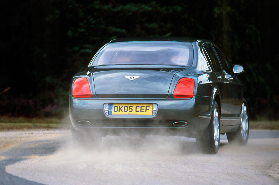 Bentley Flying Spur rear cornering