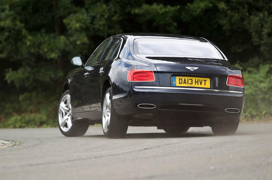 Bentley Flying Spur rear cornering