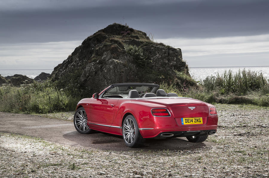 Bentley Continental GT Speed convertible roof down