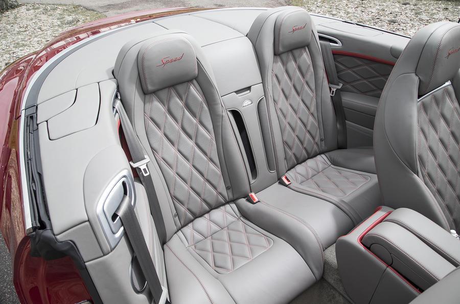 Bentley Continental GT Speed convertible rear seats