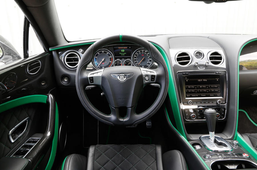 Bentley Continental GT3-R driver's seat