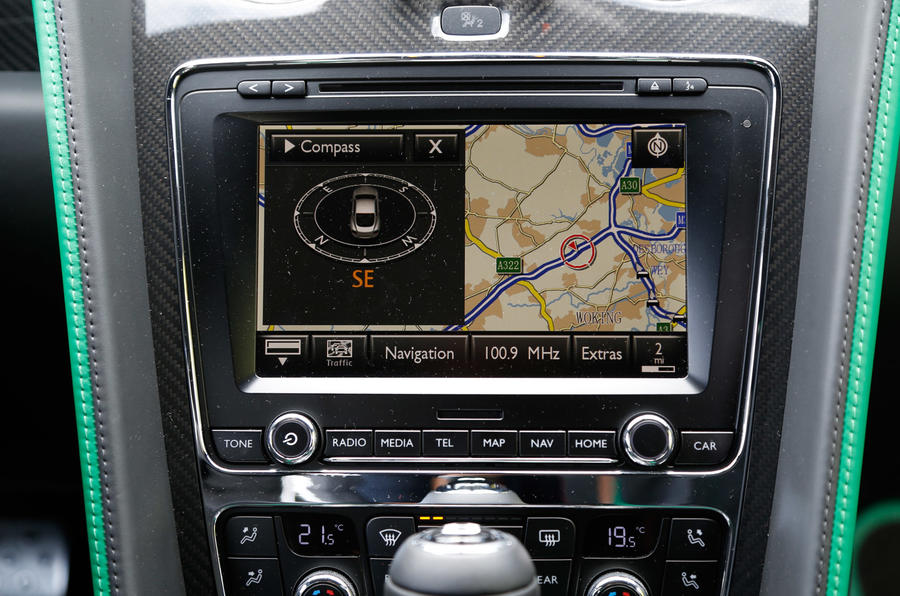 Bentley Continental GT3-R sat nav