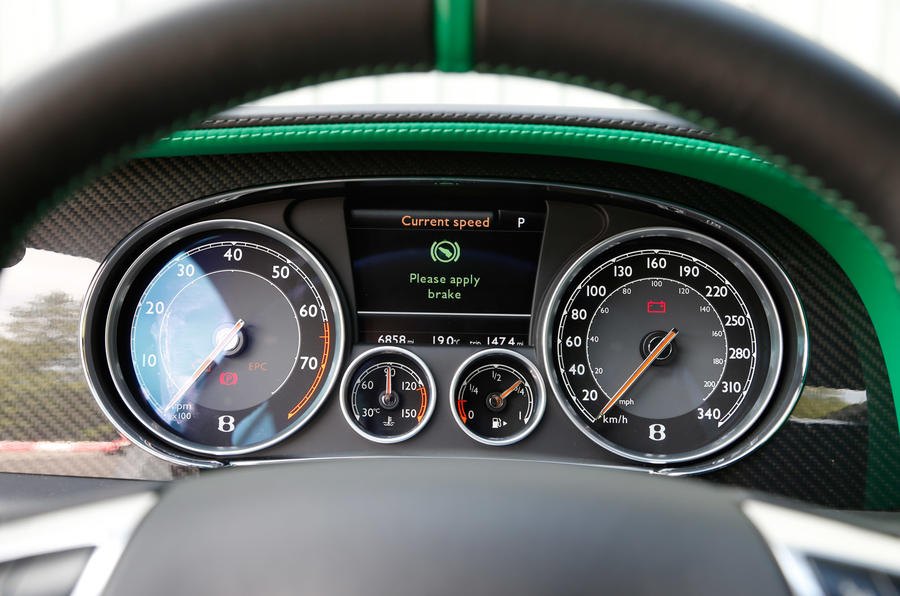 Continental GT3-R's instrument cluster