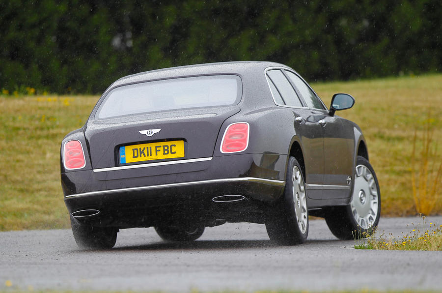 Bentley Mulsanne rear cornering