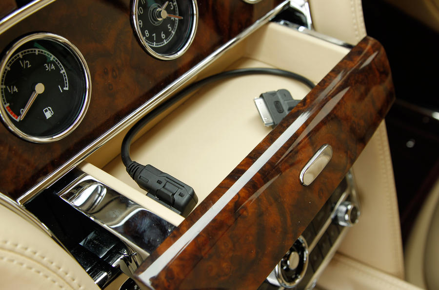 Bentley Mulsanne's iPod dock