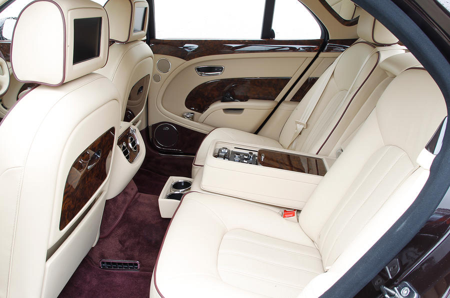 Bentley Mulsanne's rear seats