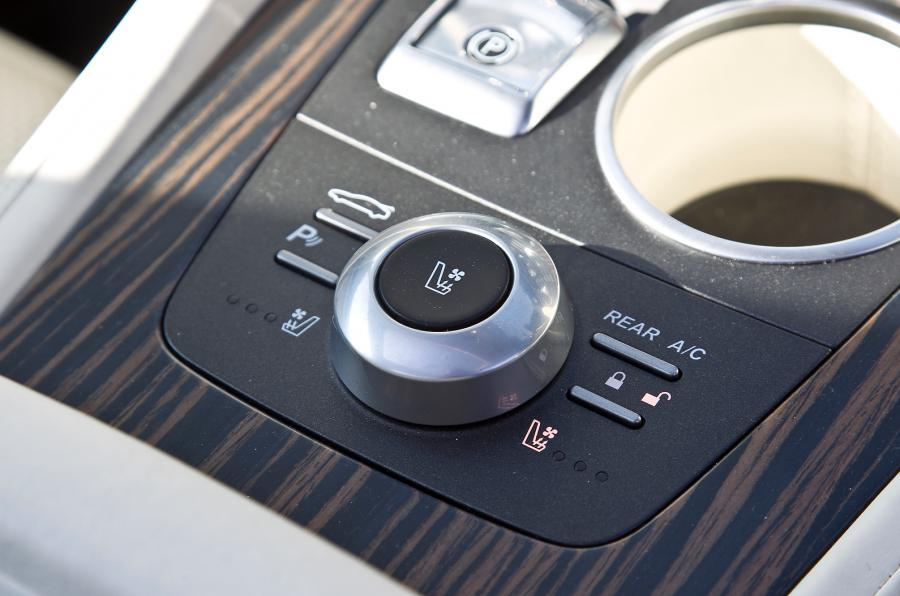 Infotainment controls in the Aston Martin Rapide Shooting Brake