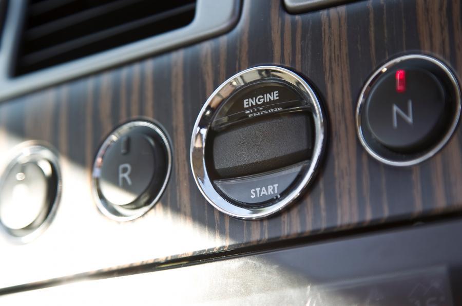 Aston Martin Rapide Shooting Brake's engine start button