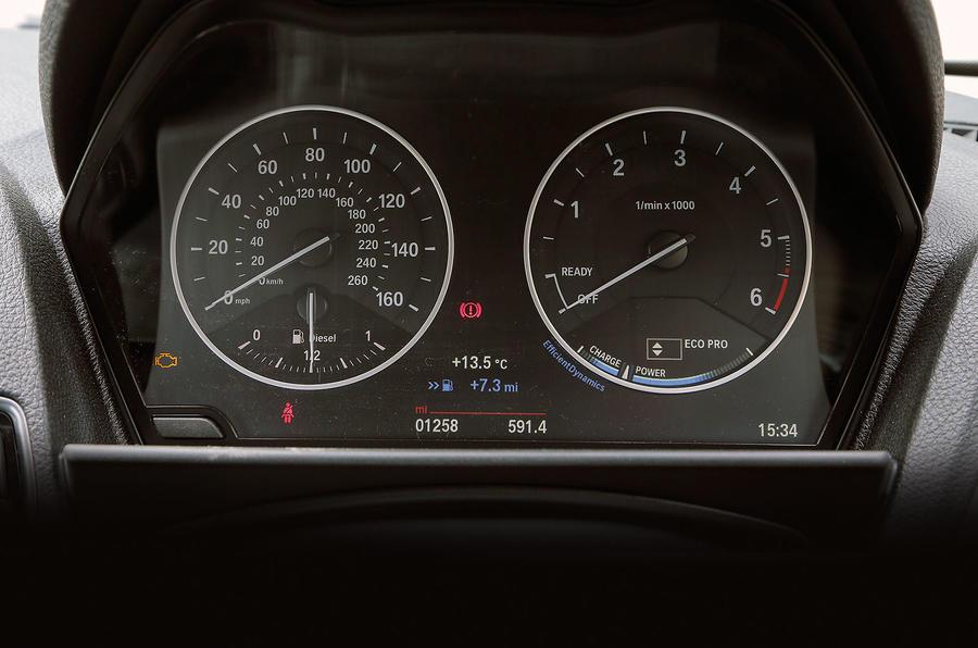 BMW 1 Series instrument cluster