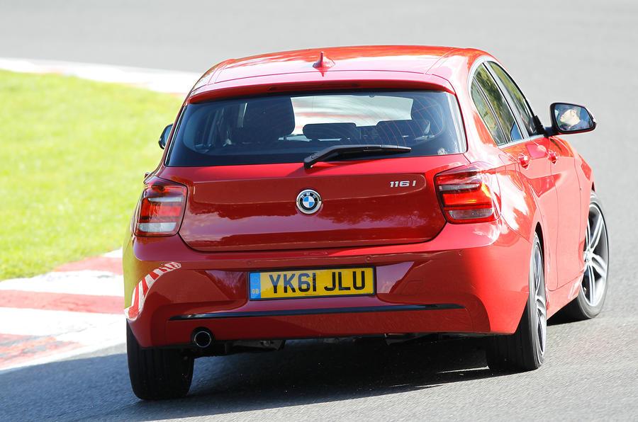 BMW 1 Series rear cornering