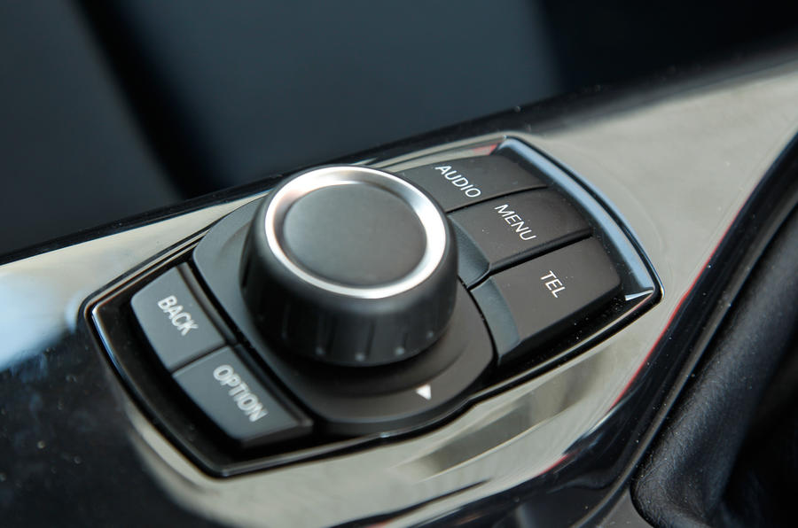 BMW iDrive infotainment controls
