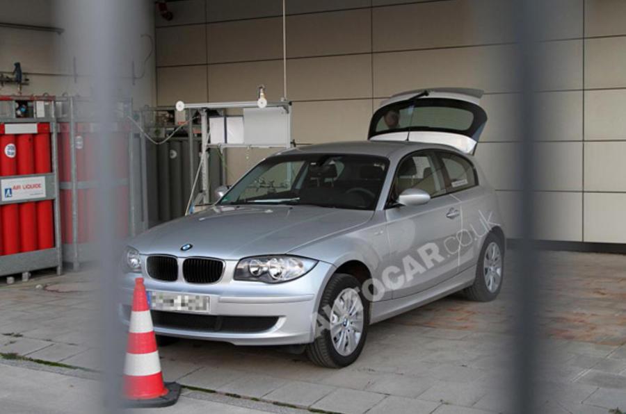 BMW hydrogen hybrid spied