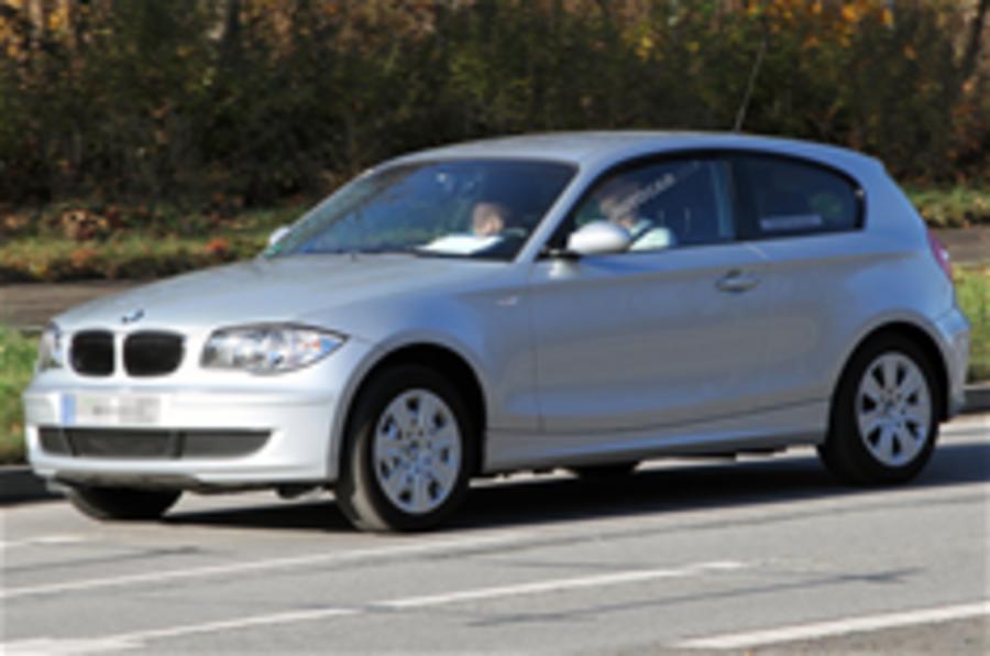 Hybrid BMW 1-series spied