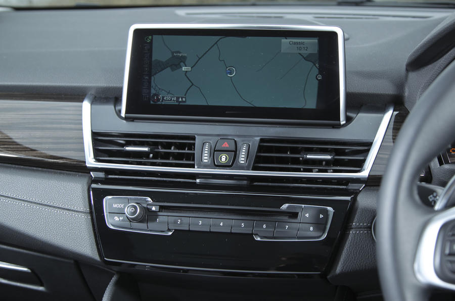 BMW 2 Series AT's infotainment screen