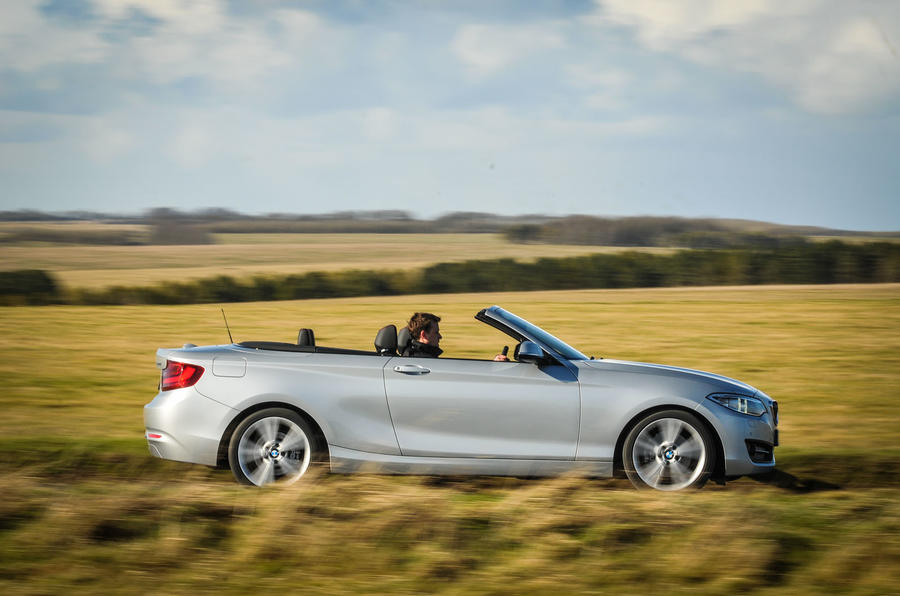 The roof deploys in 20 seconds and hood-up refinement is good on BMW 2 Series Convertible