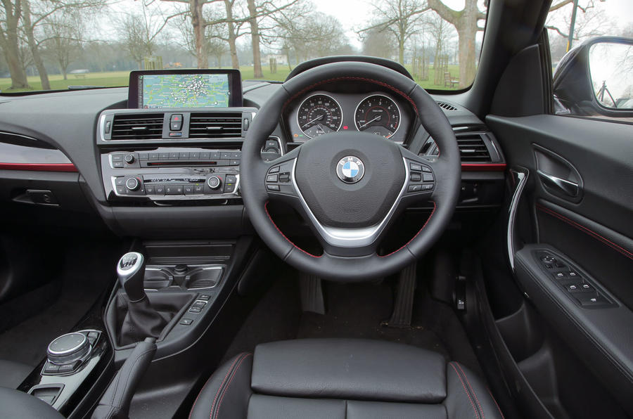 The driver's view from the BMW 2 Series Convertible
