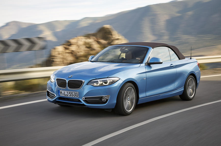 BMW 2 Series Convertible cornering