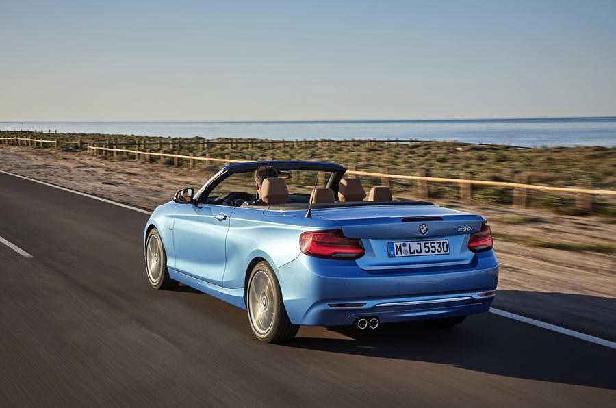 BMW 2 Series Convertible rear quarter