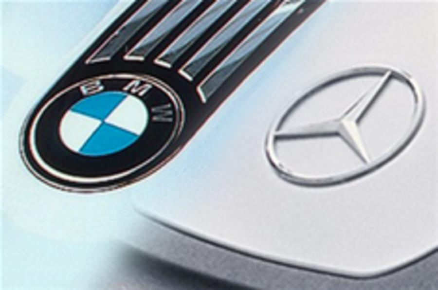 BMW and Merc to use three-pots