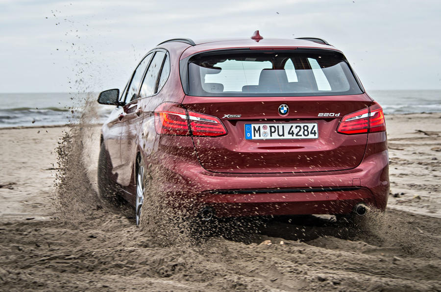 BMW 220d xDrive Active Tourer rear off-roading