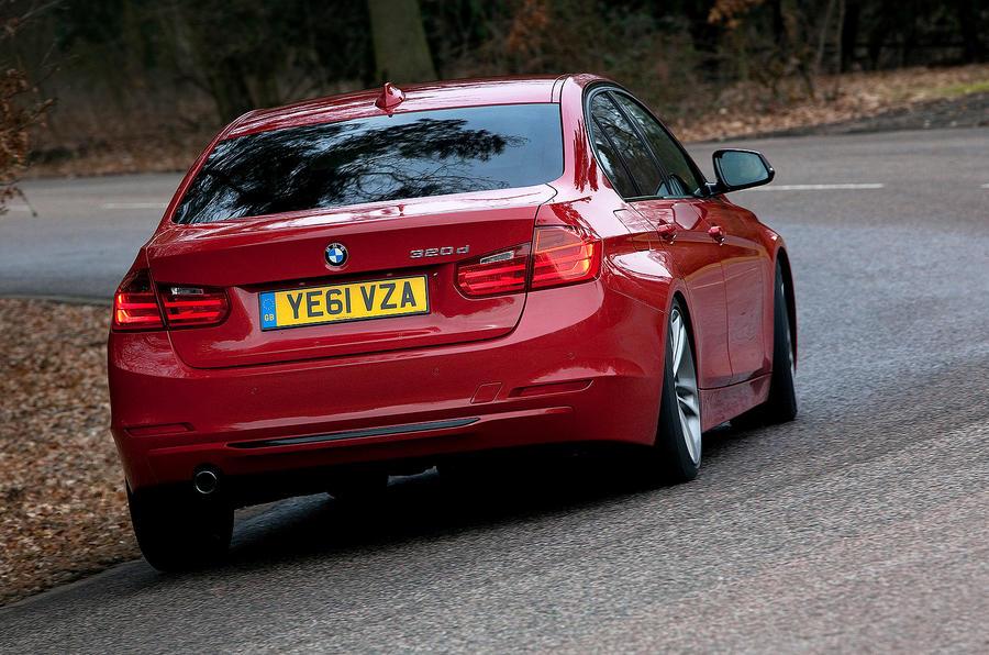 BMW 3 Series rear cornering