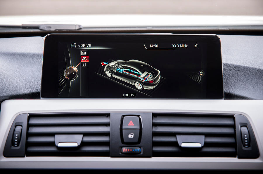 BMW 3 Series eDrive prototype iDrive system