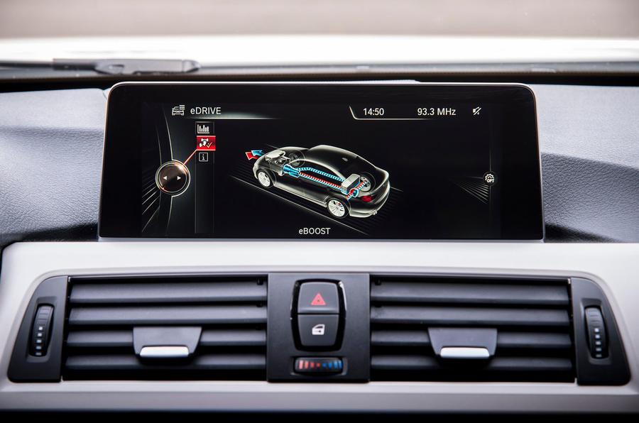 BMW 3 Series eDrive prototype iDrive system