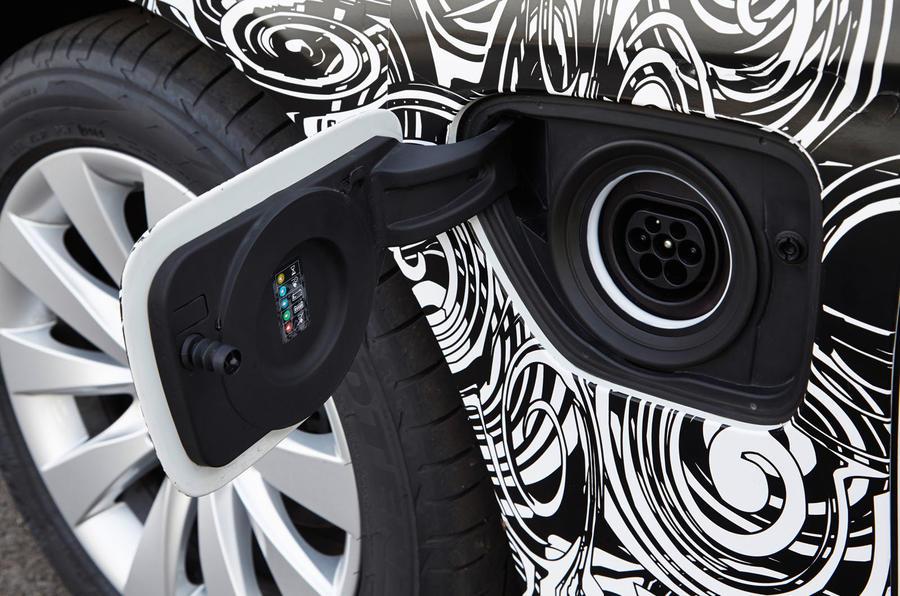 BMW 3 Series eDrive plug-in port