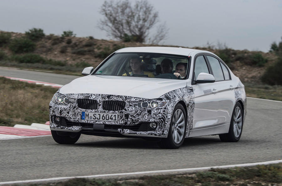 BMW 3 Series eDrive prototype cornering