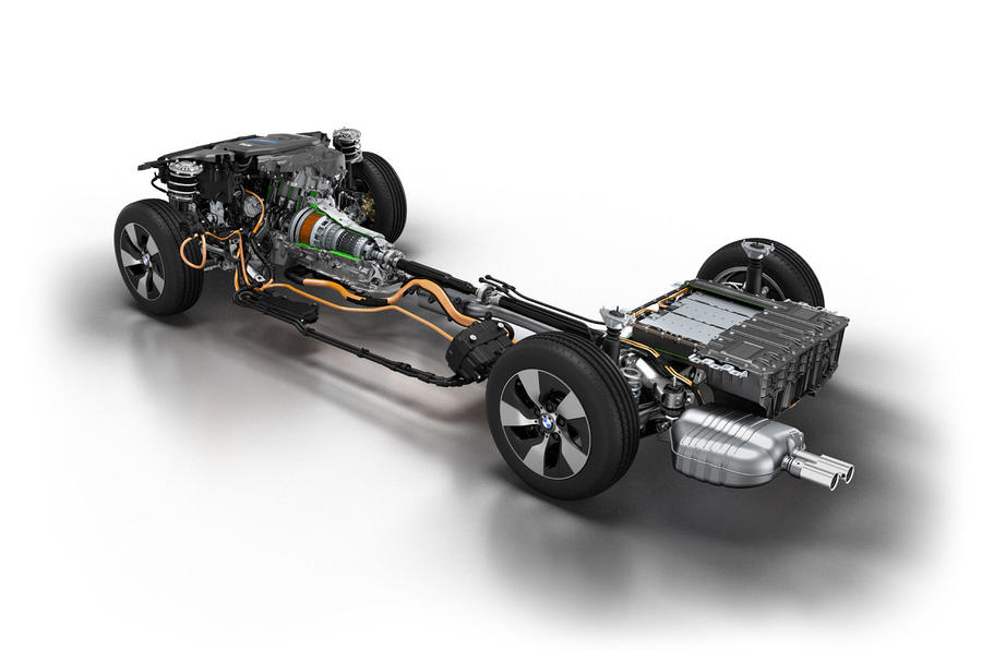 BMW 3 Series eDrive prototype powertrain