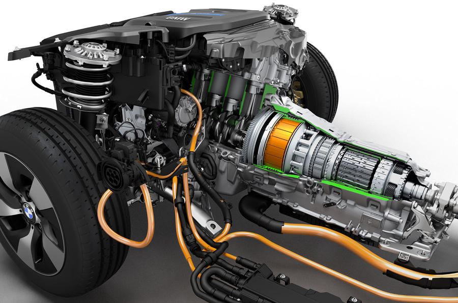 BMW 3 Series eDrive prototype powertrain