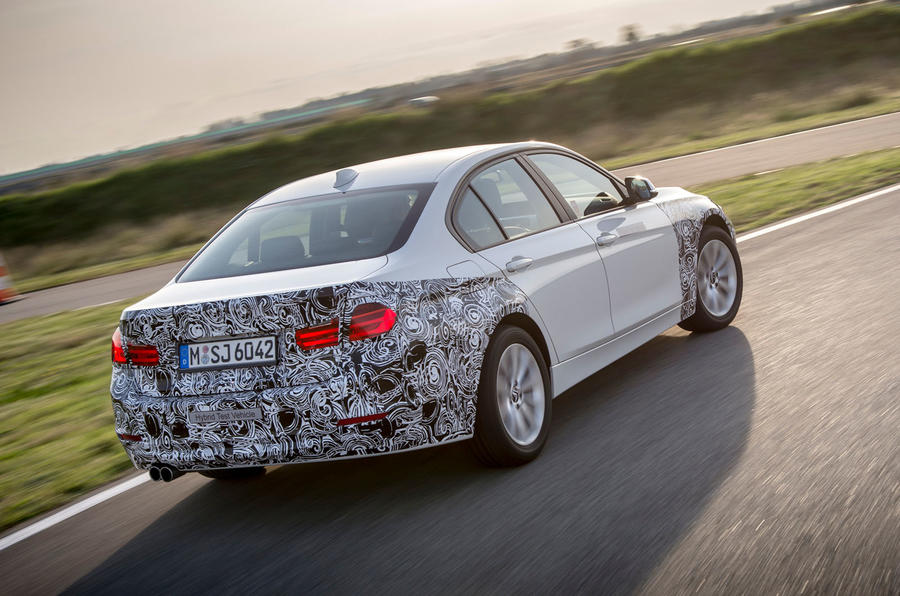 BMW 3 Series eDrive prototype rear