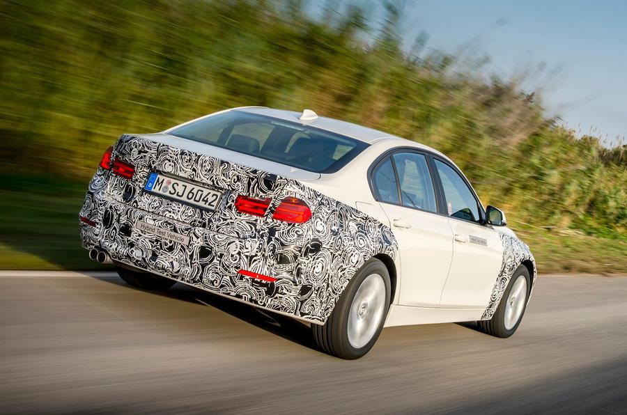 BMW 3 Series eDrive prototype rear