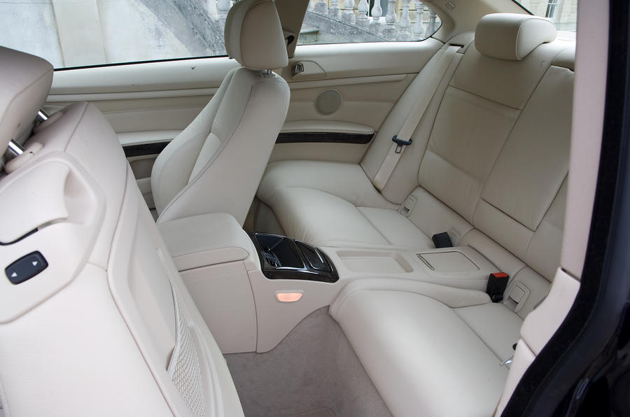 BMW 330d coupé rear seats
