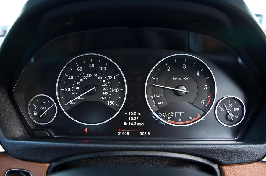BMW 330d instrument cluster