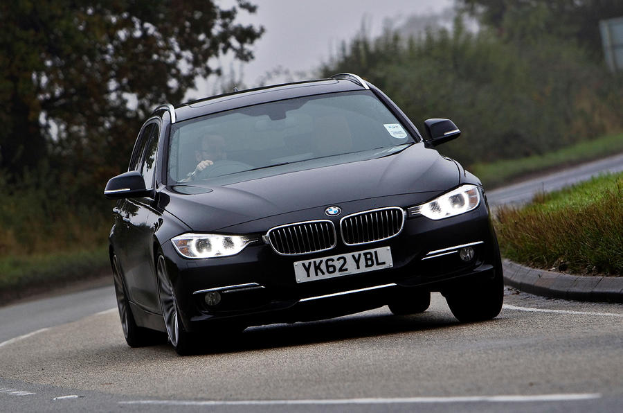 BMW 330d Touring cornering