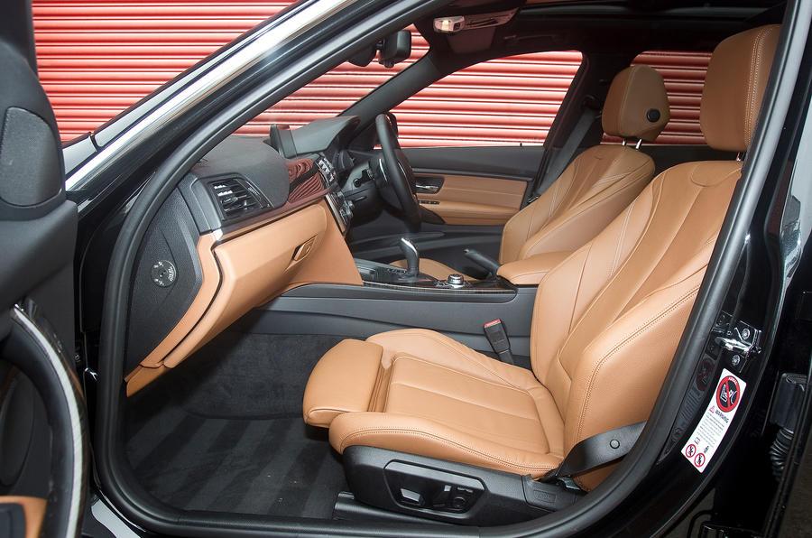 BMW 330d front seats