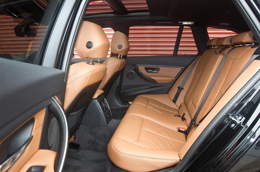 BMW 330d rear seats