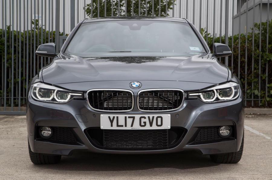 BMW 330e front end